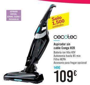 Oferta de Aspirador sin cable Conga H20 CECOTEC por 109€