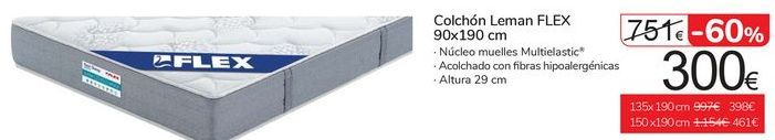 Oferta de Colchón Leman Flex 90x190  por 300€