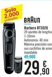 Oferta de Barbero BT3020 BRAUN por 29,9€