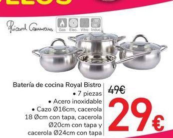 Oferta de Batería de cocina Royal Bistro  por 29€