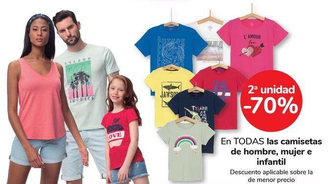 Oferta de En TODAS las camisetas de hombrem, mujer e infantil por