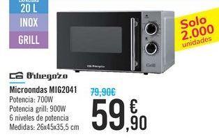 Oferta de Microondas MIG2041 Orbegozo por 59,9€