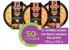 Oferta de En tortillas al plato con huevo campero PALACIOS por