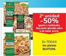 Oferta de En TODAS las pizzas BUITONI, iguales o combinados  por