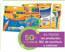 Oferta de En TODOS los productos BIC de escritura y colorear por