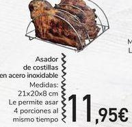 Oferta de Asador de costillas en acero inoxidable por 11,95€