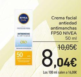 Oferta de Crema facial antiedad antimanchas FP50 NIVEA  por 8,04€