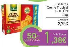 Oferta de Galletas Creme Tropical GULLÓN por 2,75€