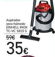 Oferta de Aspirador seco húmedo EINHELL INOX TC-VC 1815 S  por 35€