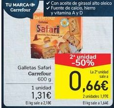 Oferta de Galletas Safari Carrefour  por 1,31€