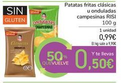 Oferta de Patatas fritas clásicas u onduladas campesinas RISI por 0,99€