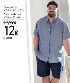 Oferta de Camisa lino bermuda lino  por 12€