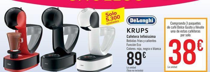 Oferta de Cafetera infinissima KRUPS por 89€