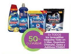Oferta de En TODOS los lavavajillas máquina Todo en 1 Max, Quantum Ultimate, Geles y Aditivos FINISH por