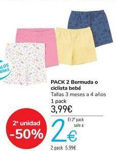 Oferta de PACK 2 Bermuda o ciclista bebé  por 3,99€
