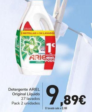 Oferta de Detergente ARIEL Original líquido  por 9,89€