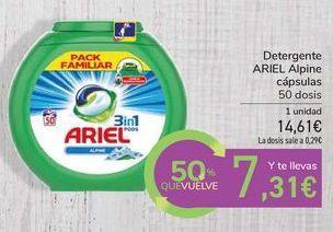 Oferta de Detergente ARIEL Alpine cápsulas por 14,61€