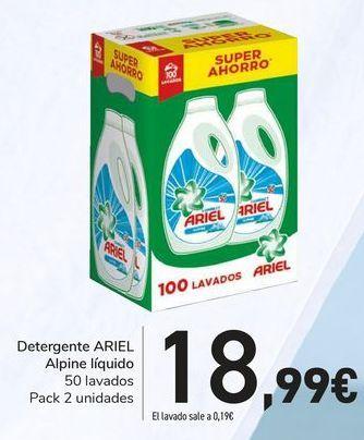 Oferta de Detergente ARIEL Alpine Líquido  por 18,99€