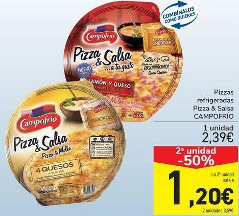 Oferta de Pizzas refrigerada Pizza&salsas Campofrío  por 2,39€