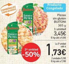 Oferta de Pizzas sin gluten BUITONI  por 3,45€
