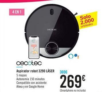 Oferta de Aspirador robot 3290 LÁSER CECOTEC por 269€