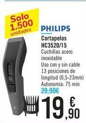 Oferta de Cortapelos HC3520/15 PHILIPS por 19,9€