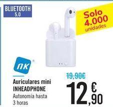 Oferta de Auriculares mini INHEADPHONE NK por 12,9€