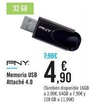 Oferta de Memoria USB Attache 4.0  por 4,9€