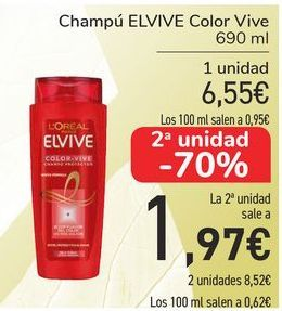 Oferta de Champú ELVIVE Color Vive  por 6,55€