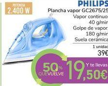 Oferta de Plancha de vapor GC2675/25 PHILIPS por 39€