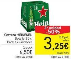 Oferta de Cerveza HEINEKEN  por 6,5€