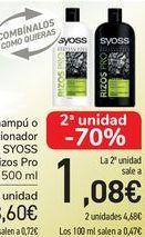 Oferta de Champú o acondicionador SYOSS Rizos Pro  por 3,6€