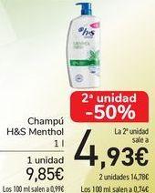Oferta de Champú H&S Menthol  por 9,85€