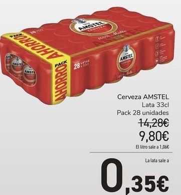 Oferta de Cerveza Amstel por 9,8€