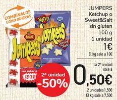 Oferta de JUMPERS Ketchup o Sweet&Salt sin gluten  por 1€