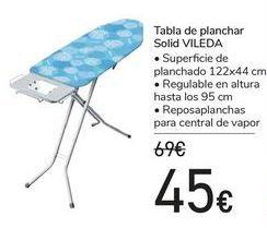 Oferta de Tabla de planchar Solid VILEDA  por 45€
