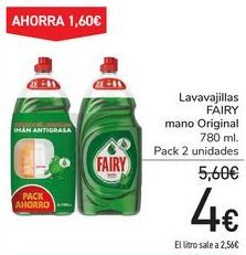 Oferta de Lavavajillas FAIRY mano Original  por 4€