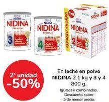 Oferta de En leche en polvo NIDINA, iguales o combinadas  por