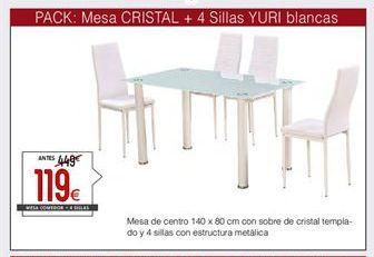 Oferta de Conjunto mesa y sillas por 119€