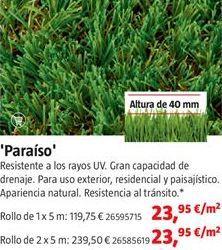 Oferta de Césped artificial por 23,95€