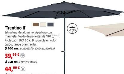 Oferta de Parasol por 39,99€