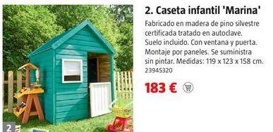 Oferta de Caseta de madera por 183€