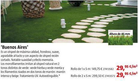 Oferta de Césped artificial por 29,95€