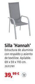 Oferta de Silla de jardín de aluminio por 39,99€