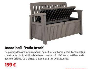 Oferta de Banco de jardín por 139€