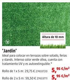 Oferta de Césped artificial por 5,95€
