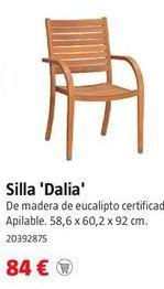 Oferta de Silla de madera por 84€