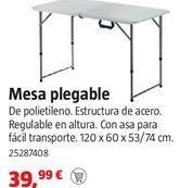 Oferta de Mesa plegable por 39,99€