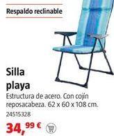 Oferta de Silla de playa por 34,99€