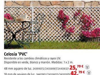 Oferta de Celosía por 25,79€